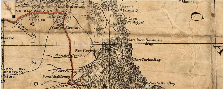 Goldman Peak_Map of Baja 1919