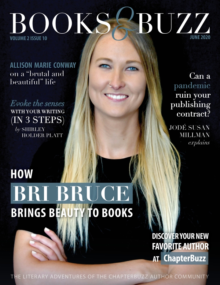 "COVER FEATURE: ""How graphic designer Bri Bruce brings beauty to books"" (Books & Buzz Magazine, June 2020)"